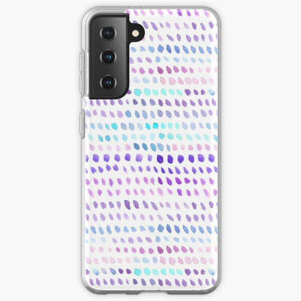 Watercolor Dots - Blue, Purple and Pink Samsung Galaxy Soft Case