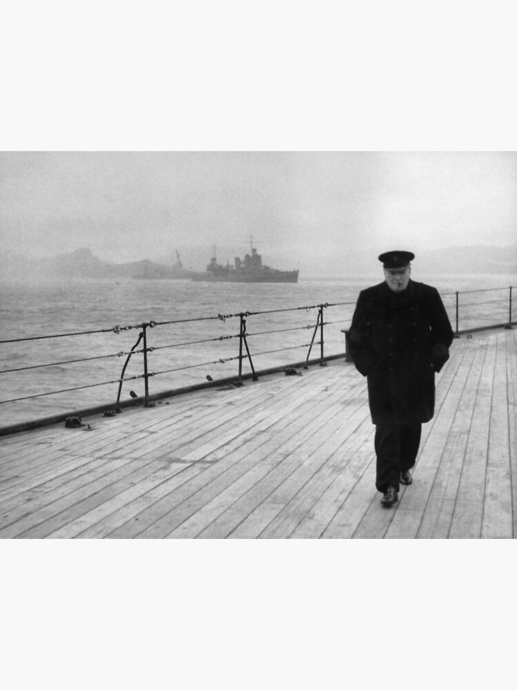 Winston Churchill At Sea by warishellstore