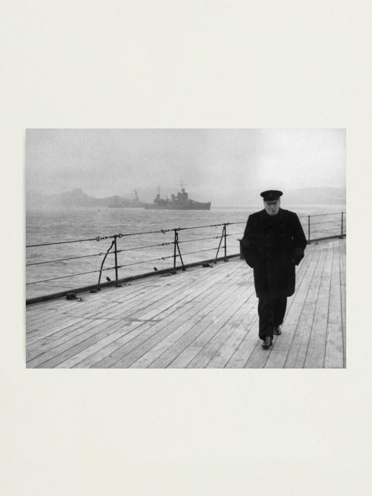 Alternate view of Winston Churchill At Sea Photographic Print