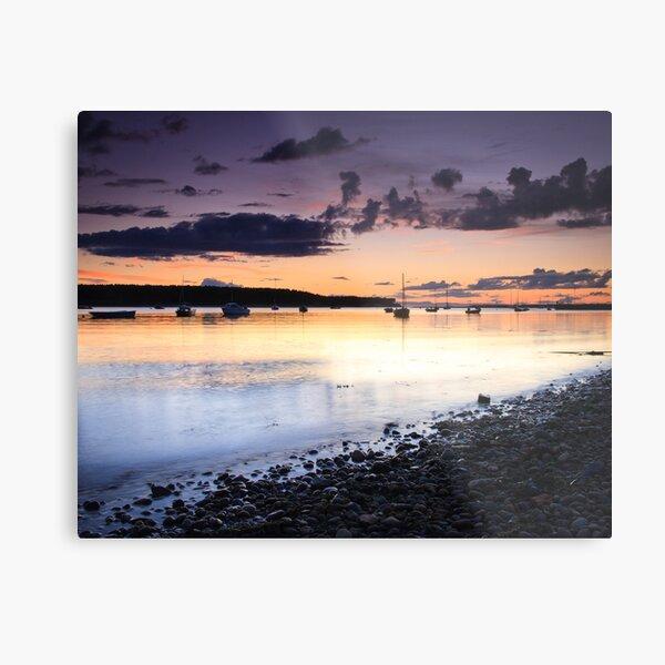 Dusk across the bay, Findhorn Metal Print