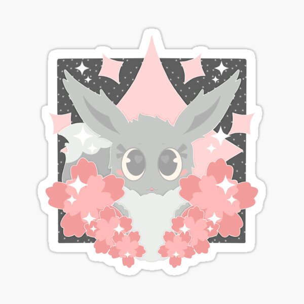 Shiny Normal Type with Flowers Sticker