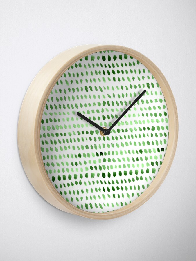 Alternate view of Watercolor Dots -  Green Clock