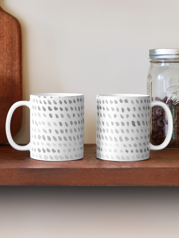 Alternate view of Watercolor Dots - Greyscale Mug