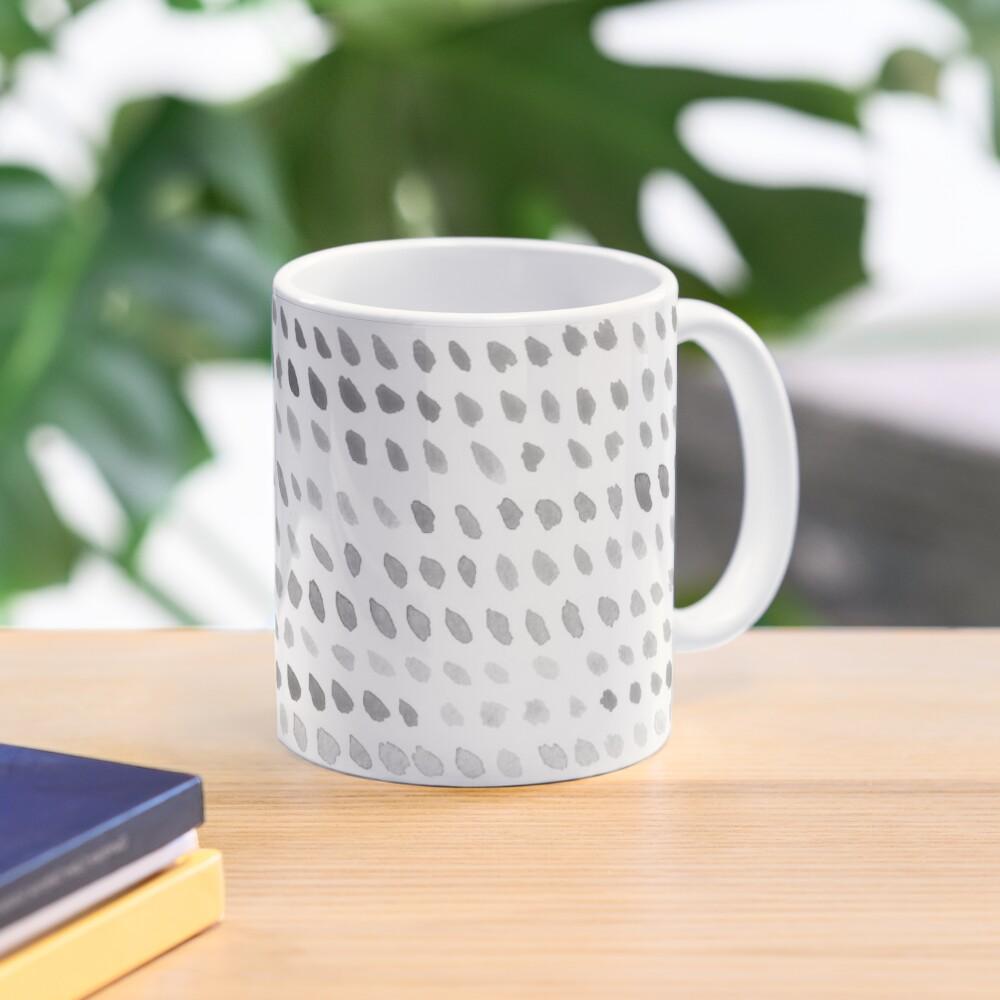 Watercolor Dots - Greyscale Mug
