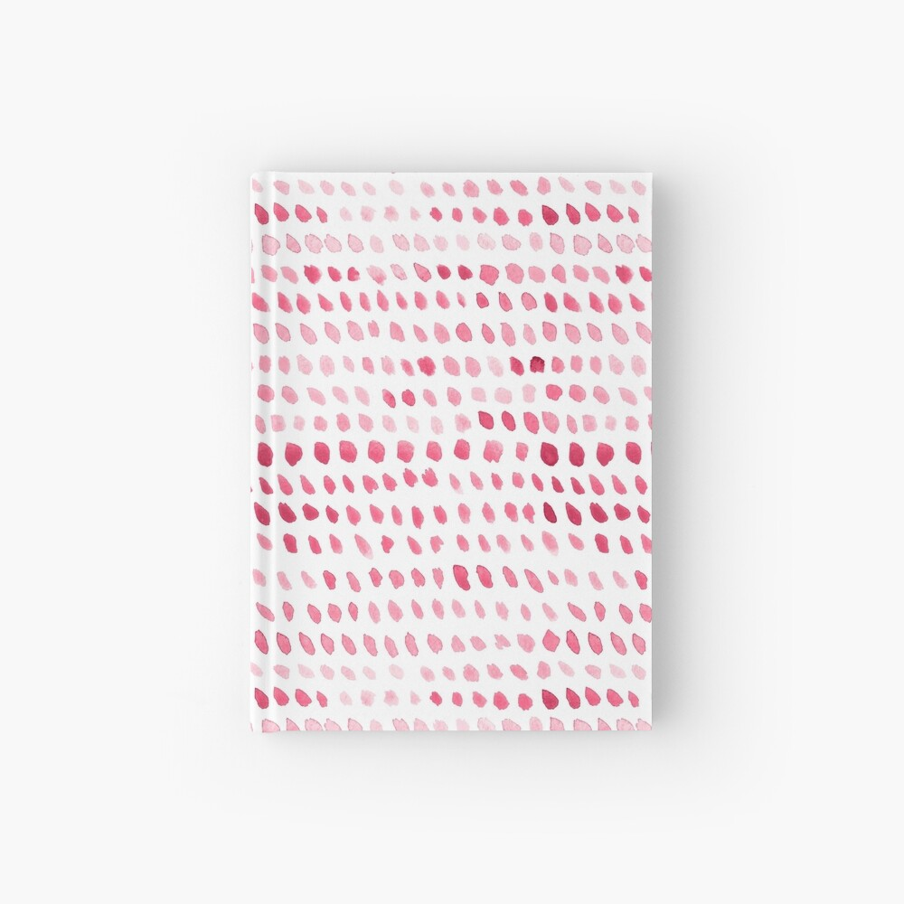 Watercolor Dots -  Pink Hardcover Journal