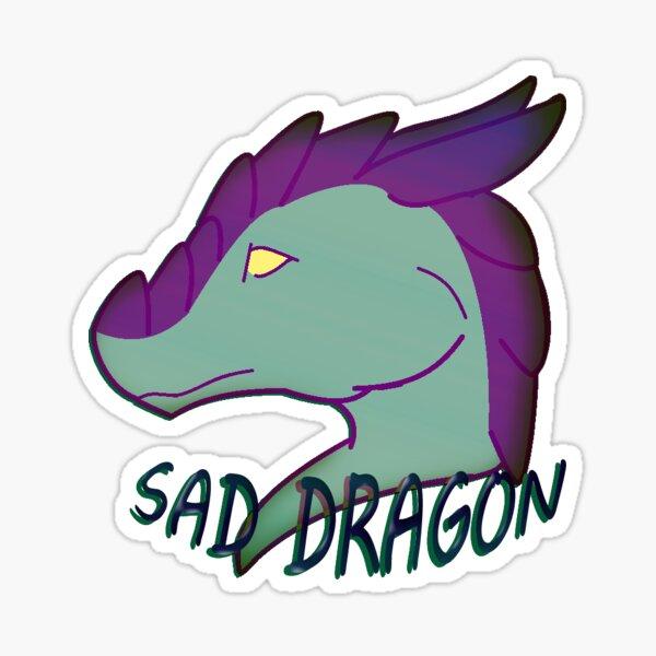 Sad Dragon Sticker