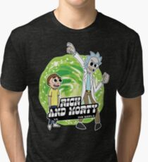 Rick and Morty vs The World Tri-blend T-Shirt