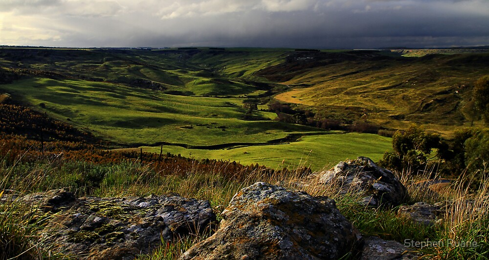 Valley Of Winter Green by Stephen Ruane
