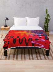Red Hot Vibe Throw Blanket