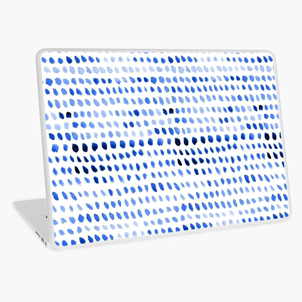 Watercolor Dots - Royal Blue Laptop Skin