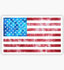 Tie Dye American Flag Sticker