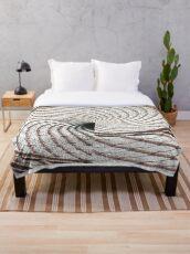 Tile Tracks Throw Blanket