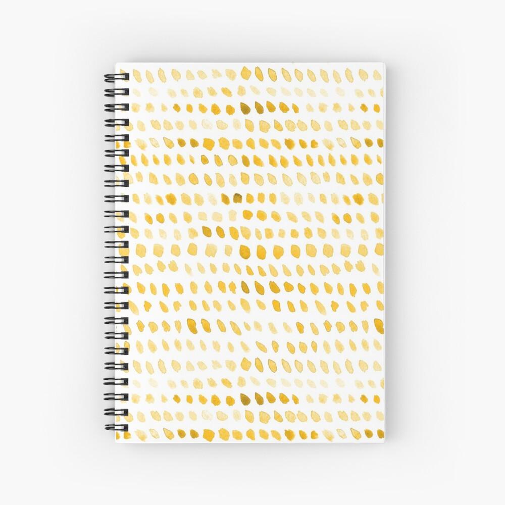 Watercolor Dots - Mustard Yellow Spiral Notebook