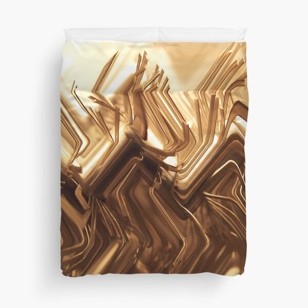 Wired Gold Duvet Cover