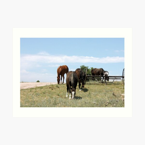Just Over The Hill Art Print