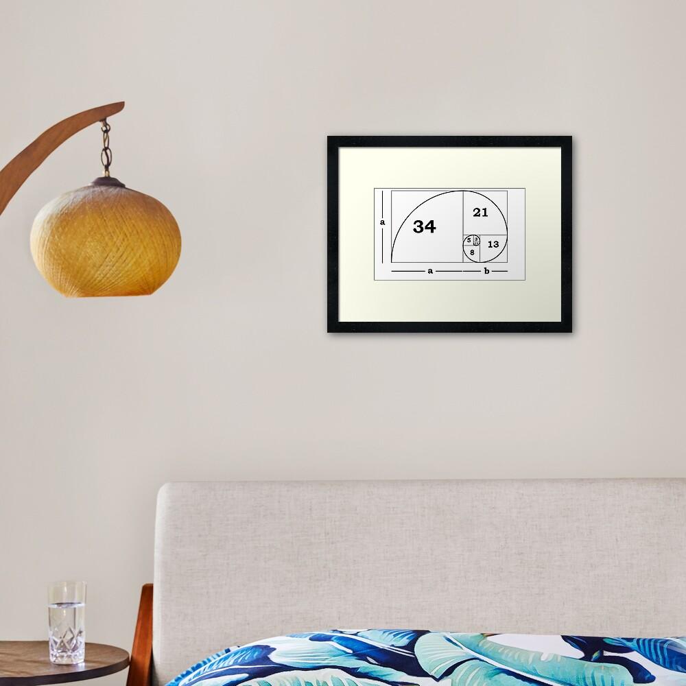 #Golden #Ratio #GoldenRatio #Design Ideas Fibonacci Spiral = 1.6180339887498948420 Framed Art Print