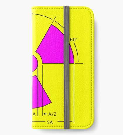 Warning Radiation Sign Template iPhone Wallet
