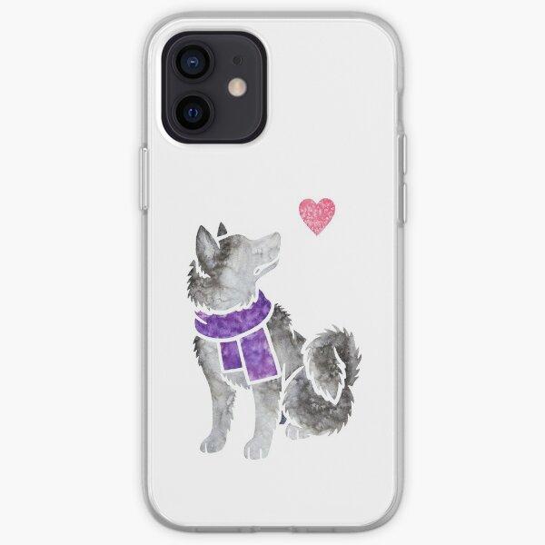 Watercolour Alaskan Malamute iPhone Soft Case