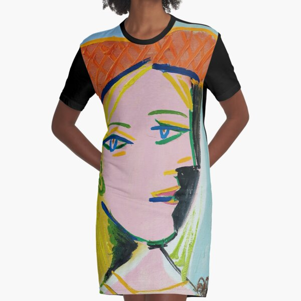 Pablo Picasso Marie Therese 1937 Artwork Reproduction, Tshirts, Prints, Poster, Bags, Men, Women, Kids Graphic T-Shirt Dress