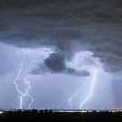 Lightning Striking Firestone Colorado 2 by Bo Insogna