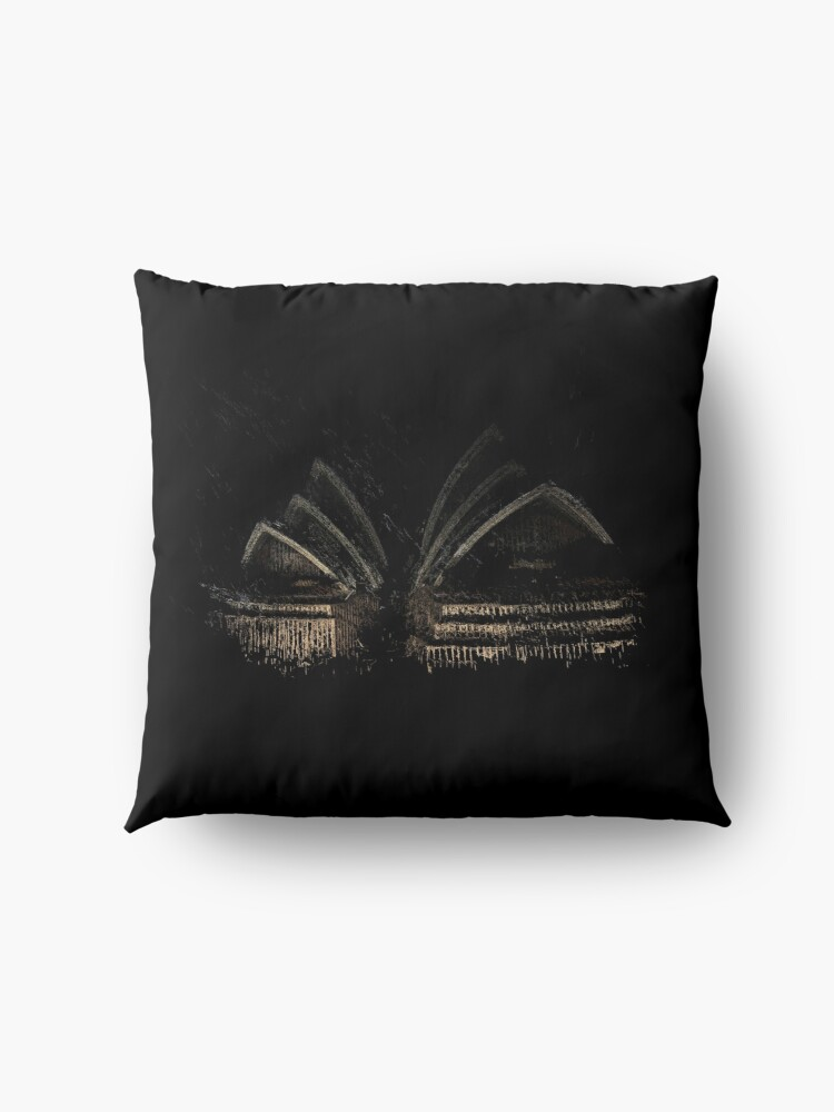 Alternate view of Sydney Opera House Floor Pillow