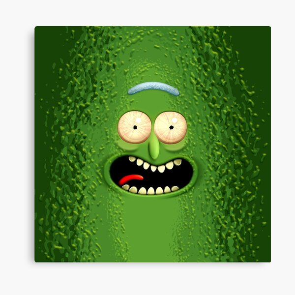 The Incredible Pickle Rick Canvas Print