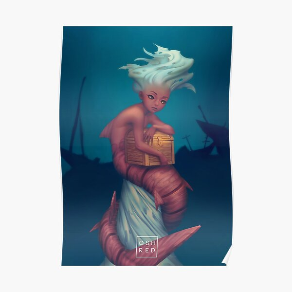 Ship Ghost Mermaid Poster