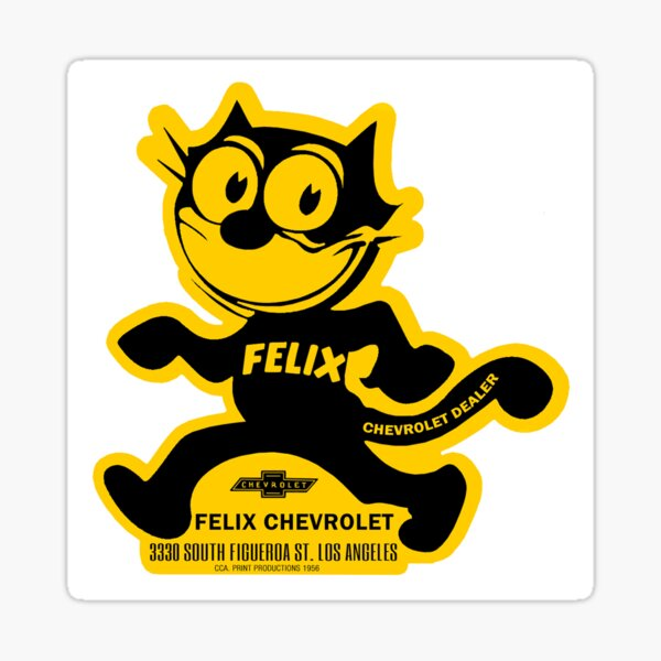 1950's Felix The Cat Chevrolet  Sticker