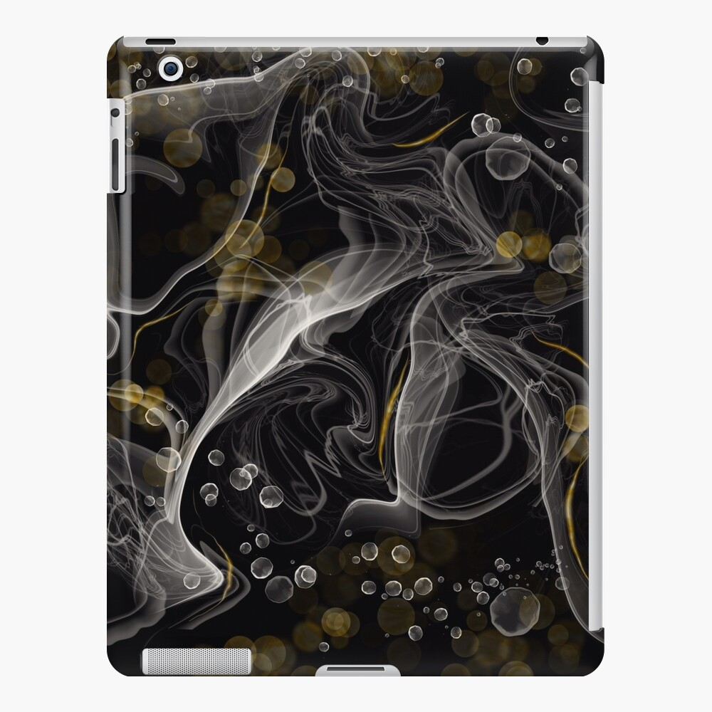 Monochrome and gold alcohol inks iPad Case & Skin