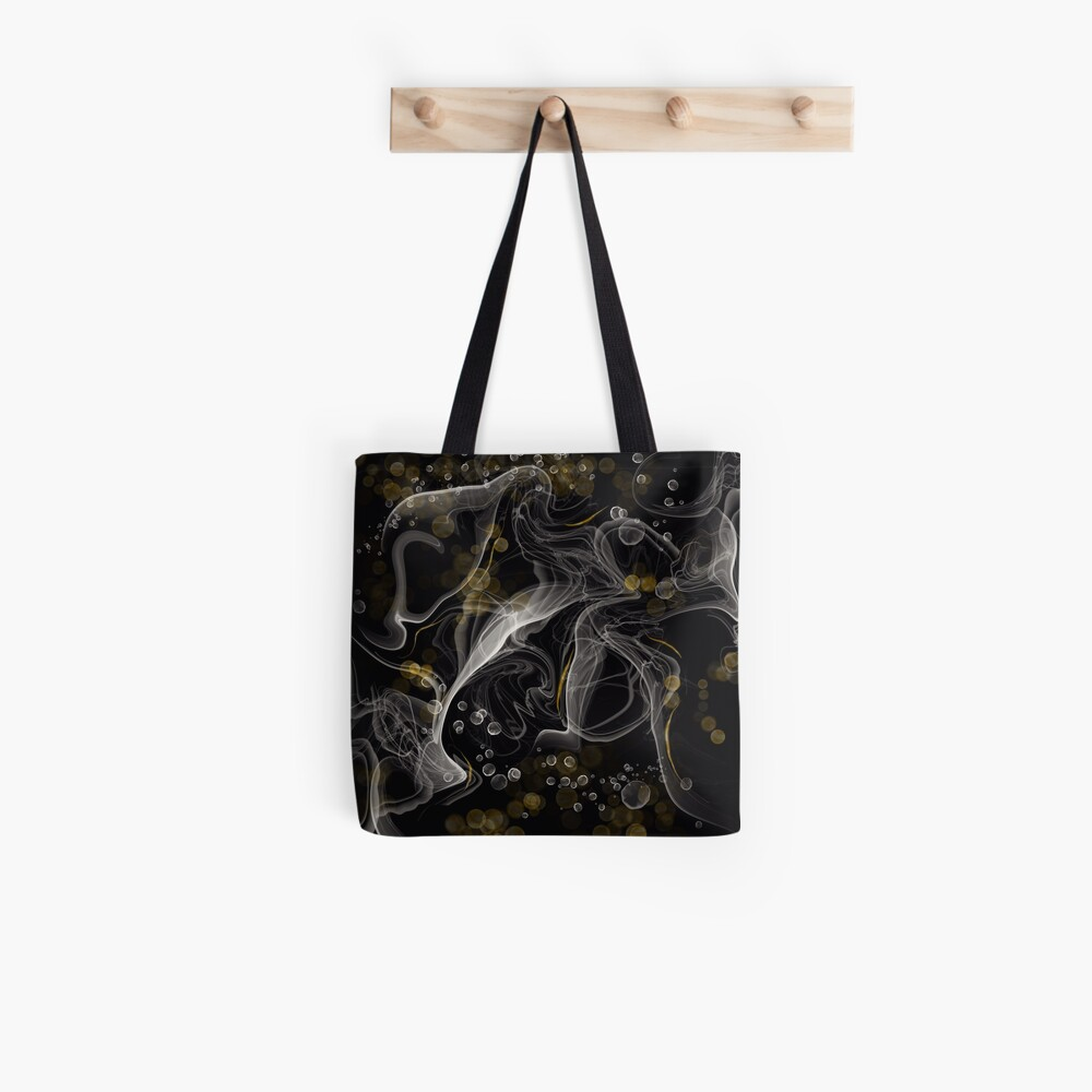 Monochrome and gold alcohol inks Tote Bag