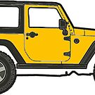 yellow jeep by Katie's Stickers