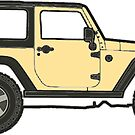 light yellow jeep by Katie's Stickers