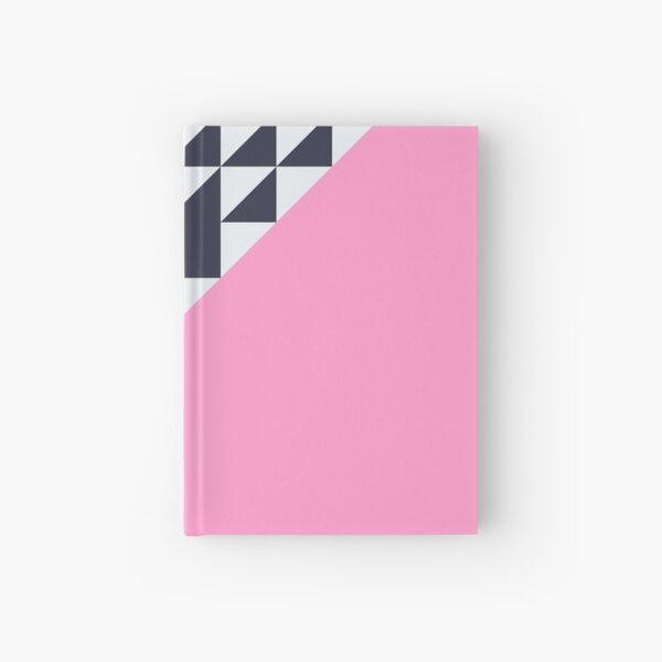 pink triangles geometric modern pattern  Hardcover Journal