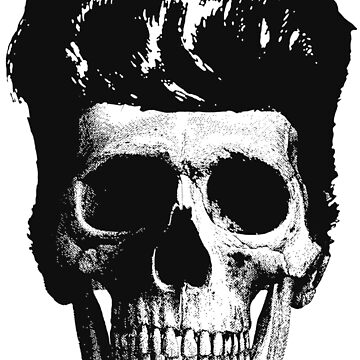 Rockabilly Skull by Technoir