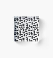 Black and white - abstract pattern dance Acrylic Block