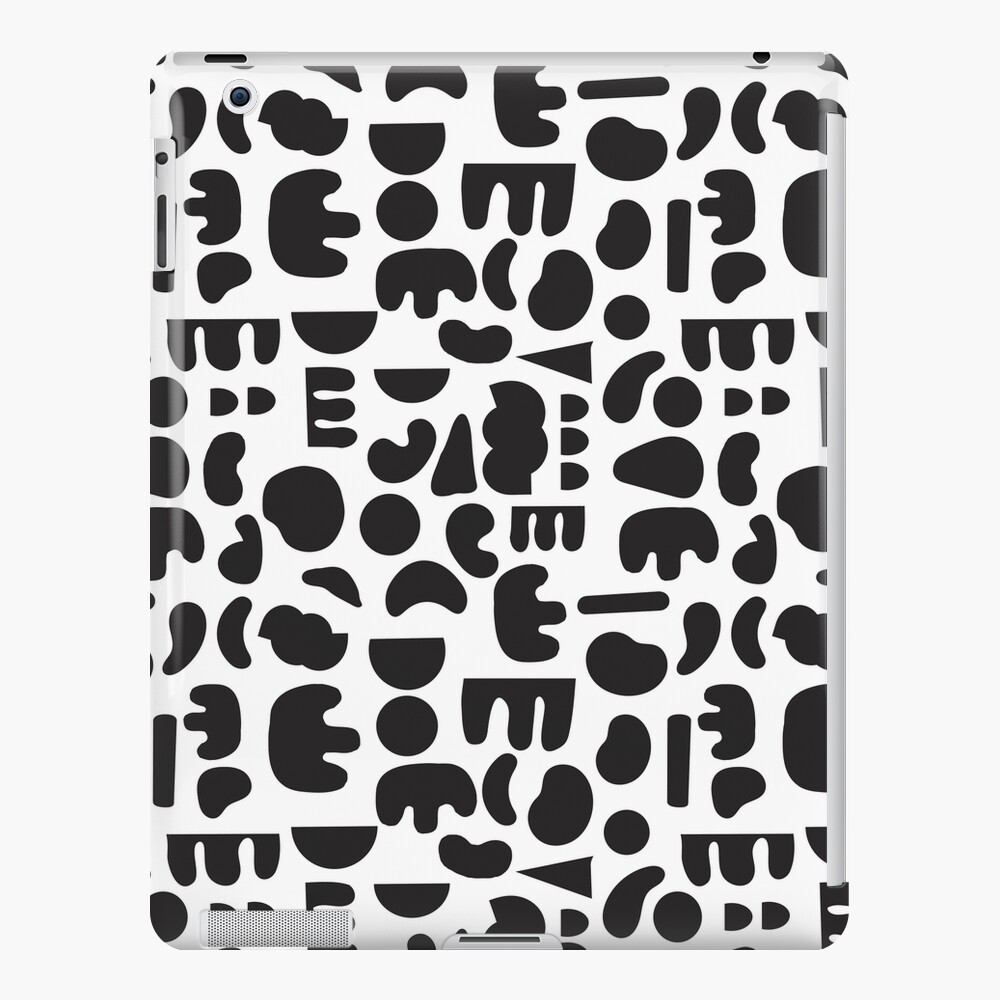 Black and white - abstract pattern dance iPad Case & Skin