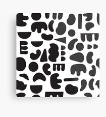 Black and white - abstract pattern dance Metal Print