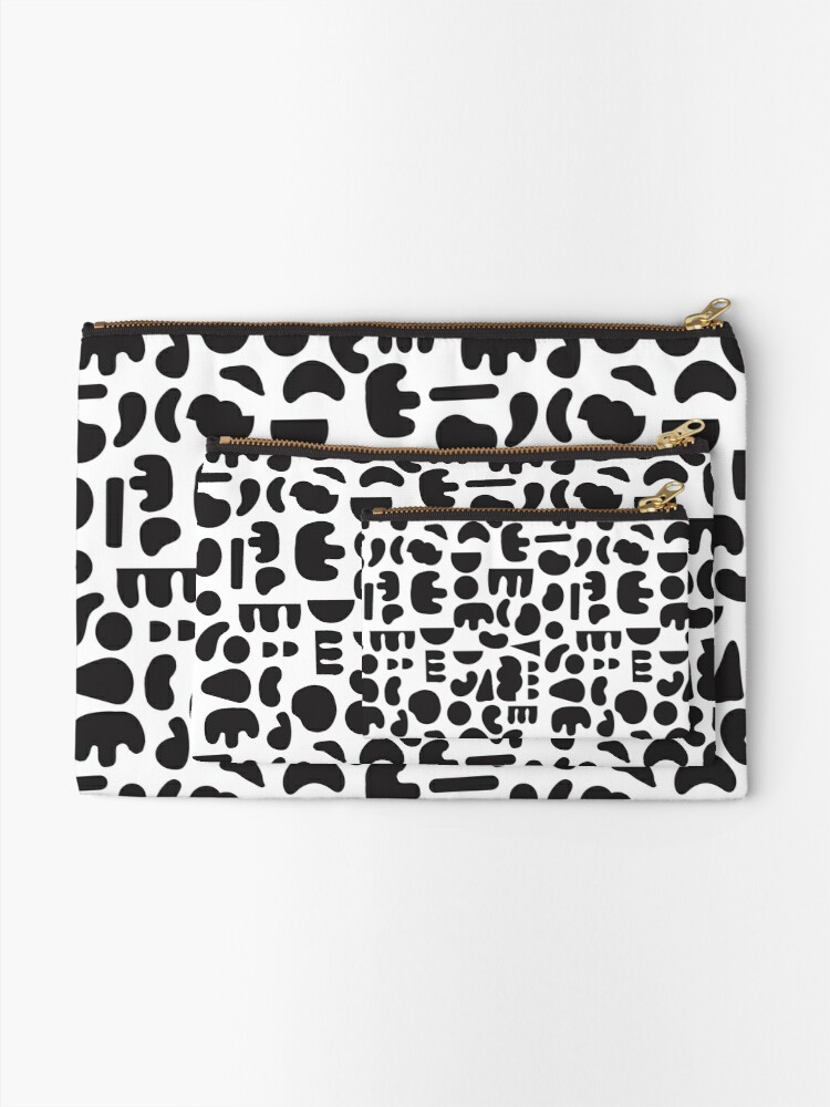 Alternate view of Black and white - abstract pattern dance Zipper Pouch