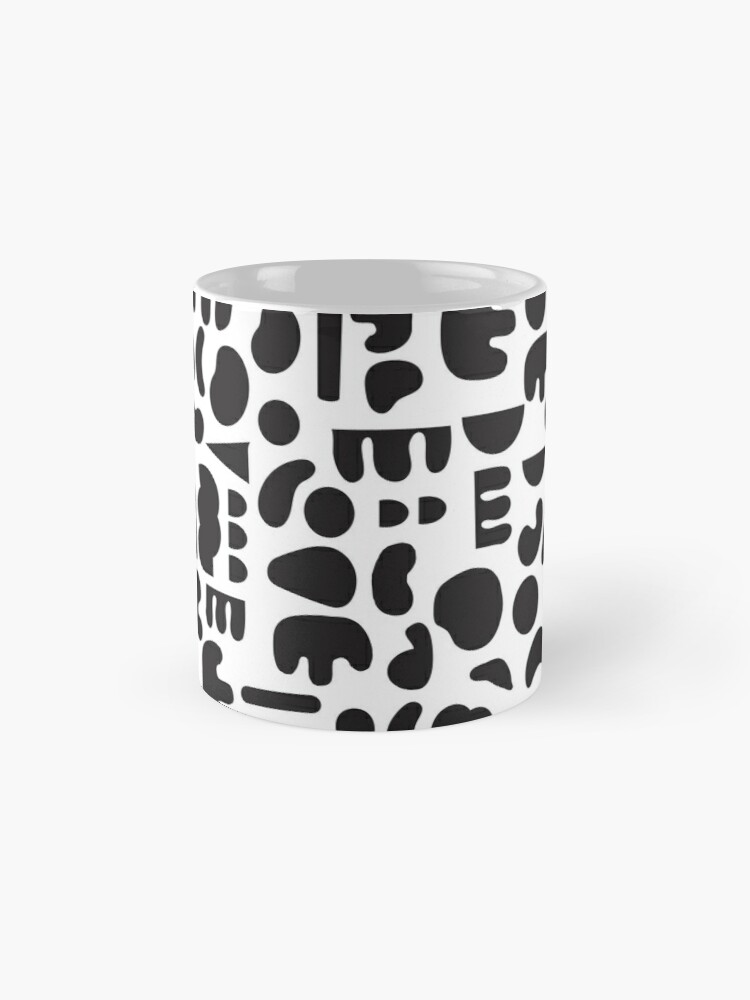 Alternate view of Black and white - abstract pattern dance Mug