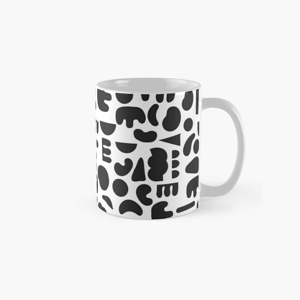 Black and white - abstract pattern dance Mug