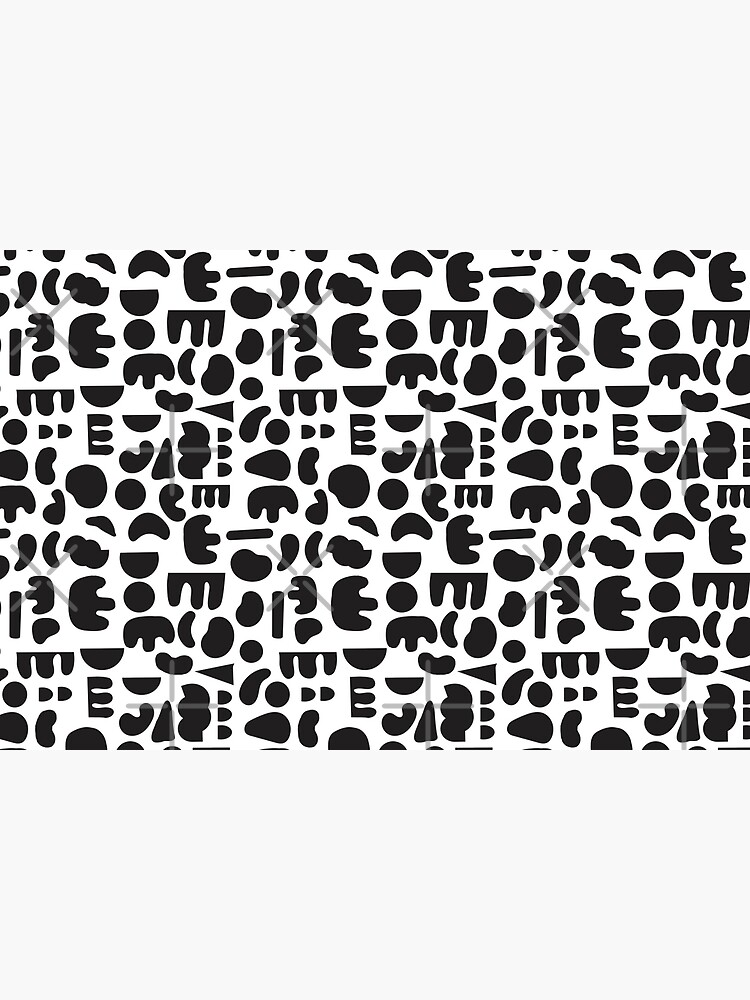 Black and white - abstract pattern dance by theseakiwi