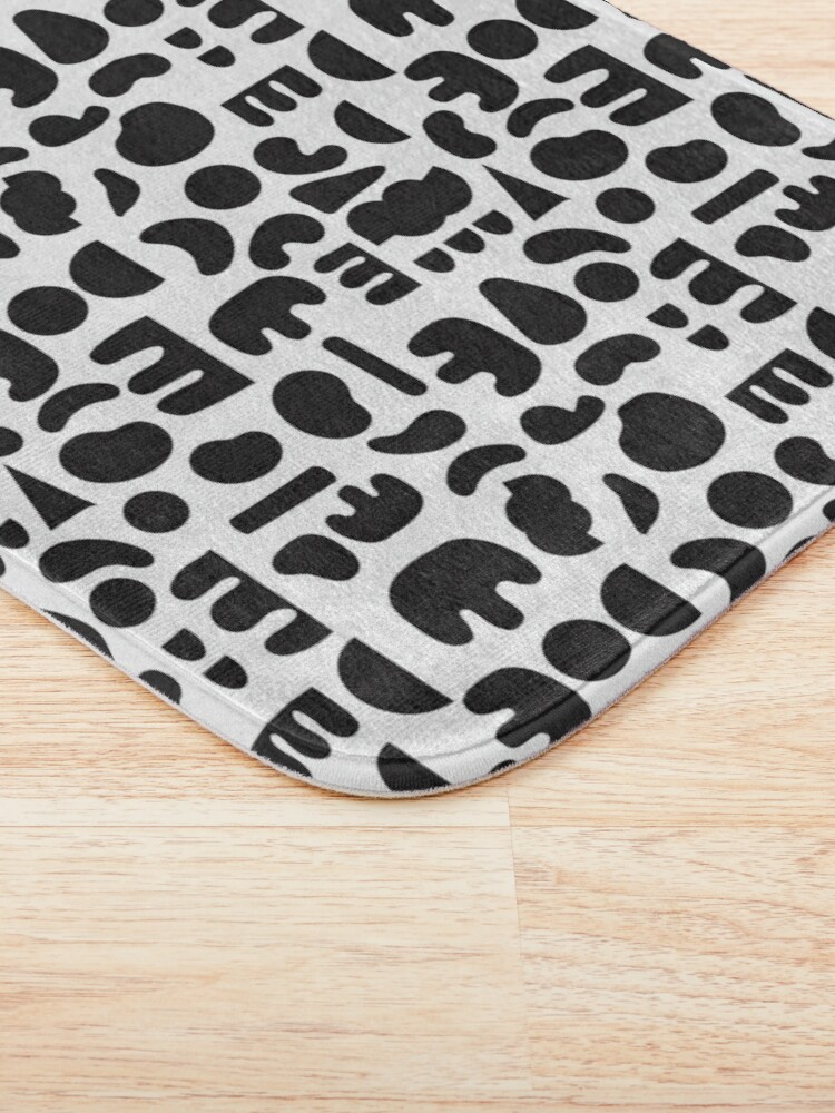 Alternate view of Black and white - abstract pattern dance Bath Mat