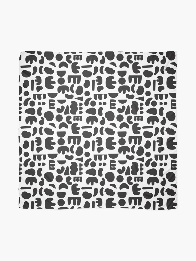 Alternate view of Black and white - abstract pattern dance Scarf
