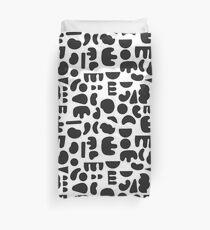 Schwarz und Weiß - abstrakter Mustertanz Bettbezug