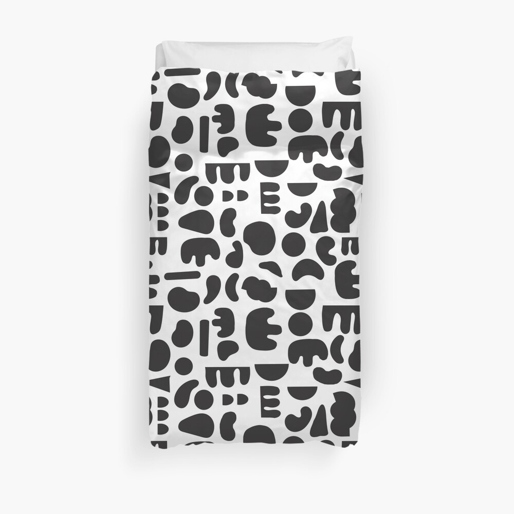Black and white - abstract pattern dance Duvet Cover