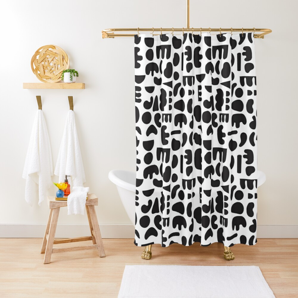 Black and white - abstract pattern dance Shower Curtain
