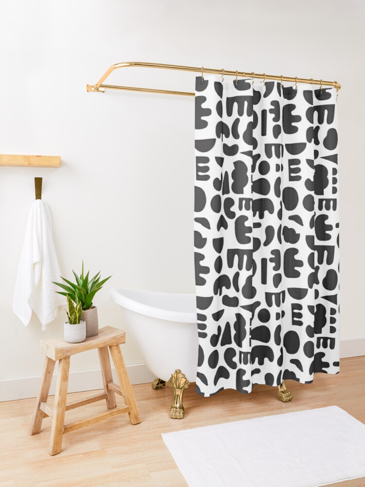 Alternate view of Black and white - abstract pattern dance Shower Curtain