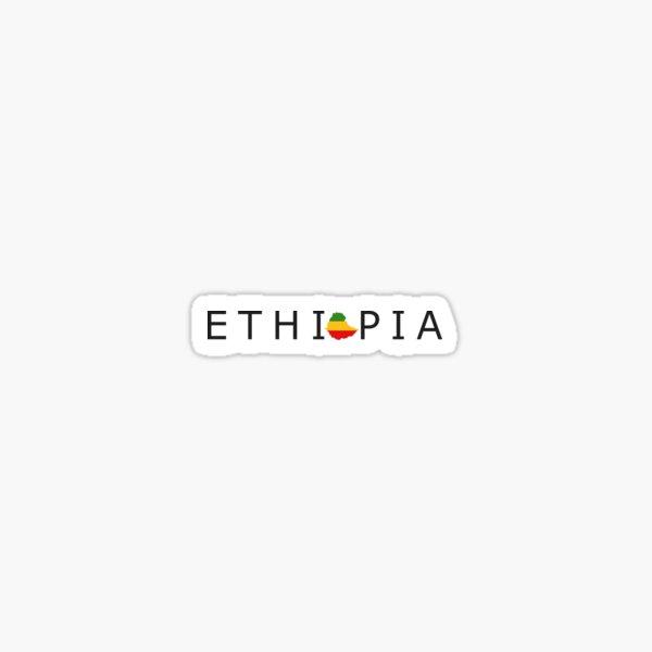 ETHIOPIA Habesha Map Slogan Design Sticker