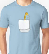 Giraffe in a tub Unisex T-Shirt
