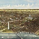 1892 bird's eye view of Washington by Kathleen  Cole